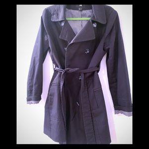 HM jacket black trench coat style